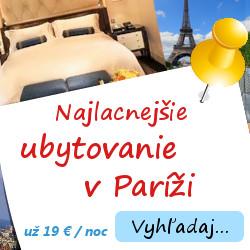 Ubytovanie v Paríži už od 19 €